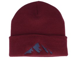 Kids Mountain Burgundy Beanie - Kiddo Cap