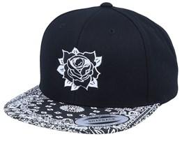 Old School Rose Eye Black/Paisley Snapback - Tattoo Collective
