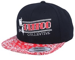 Tattoo Collective Gun Black/Red Paisley Snapback - Tattoo Collective