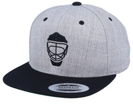 Hockey Mask Modern Heather Grey/Black Snapback - Forza