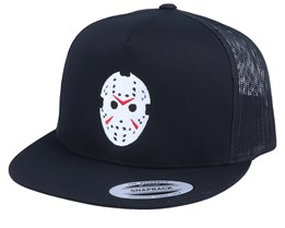 Hockey Mask Jason Black Trucker Snapback - Forza