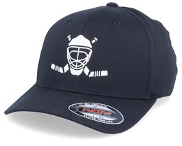 Modern Hockey Logo Black Flexfit - Forza