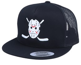 Jason Hockey Logo Black Trucker Snapback - Forza