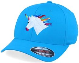 Rainbow Paper Unicorn Aqua Flexfit - Origami