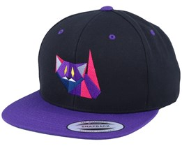 Paper Lucifer Cat Black/Purple Snapback - Origami