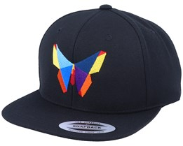 Paper Butterfly Black Snapback - Origami