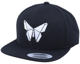 White Paper Butterfly Black Snapback - Origami