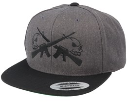 M16 Skulls Charcoal Snapback - GUNS n SKULLS