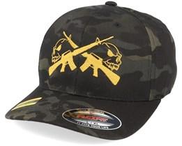 M16 Skulls Black Camo Flexfit - GUNS n SKULLS