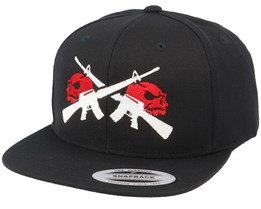M16 Red Skulls Black Snapback - GUNS n SKULLS