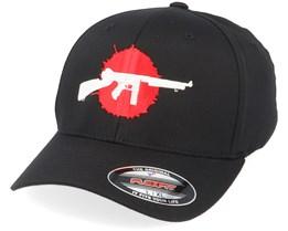 Bloody Tommy Gun Black Flexfit - GUNS n SKULLS