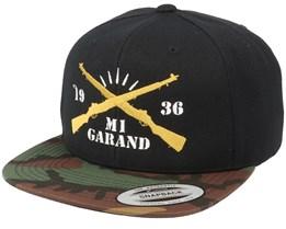M1 Garand Black/Camo Snapback - GUNS n SKULLS