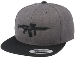 AK5C Charcoal Snapback - GUNS n SKULLS