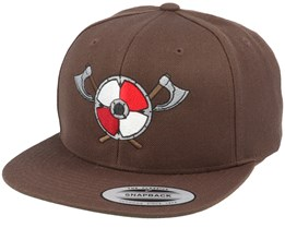 Axe Shield Brown Snapback - Vikings