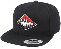 Fir Mountain Emblem Black Snapback - Wild Spirit