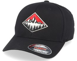 Fir Mountain Emblem Black Flexfit - Wild Spirit