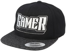 Gamer Logo Black/Leopard Snapback - Gamerz