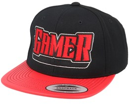 Gamer Logo Metallic Visor Black/Red Snapback - Gamerz