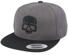 Bad Skull Charcoal/Black Snapback - Iconic