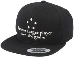 Remove Target Player Black Snapback - Gamerz