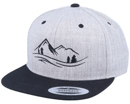 Nature Lines Heather Grey Snapback - Wild Spirit
