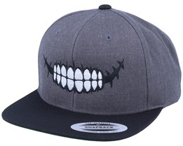 Sugar Skull Teeth Charcoal Snapback - Calaveras