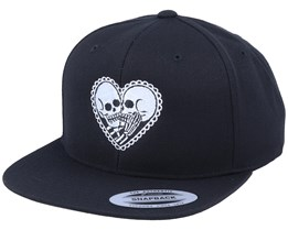 Skeleton Love Black Snapback - Calaveras