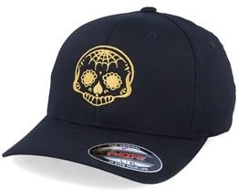 Golden Spade Nose Skull Black Flexfit - Calaveras