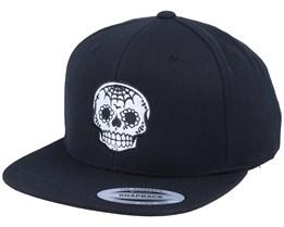 Spade Nose Skull Black Snapback - Calaveras
