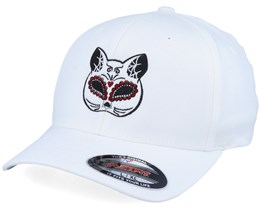 Cat Mask White Flexfit - Calaveras