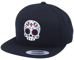 Cute Color Skull Black Snapback - Calaveras