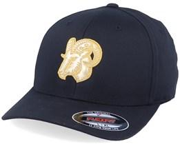 Golden Goat Applique Black Flexfit - Iconic