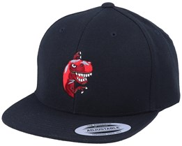 Kids Peeping Dino T-rex Black Snapback - Kiddo Cap