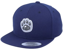 Kids Cat Paw Applique Navy Snapback - Kiddo Cap