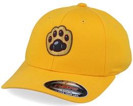 Kids Cat Paw Applique Gold Flexfit - Kiddo Cap