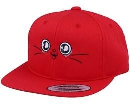Kids Happy Eyes Red Snapback - Kiddo Cap
