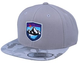 Starry Mountain Badge Silver Camo Snapback - Wild Spirit
