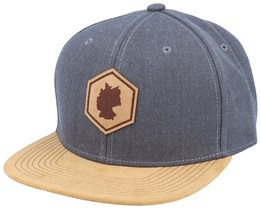 Germany Map Patch Dark Heather Grey/Suede Snapback - Iconic