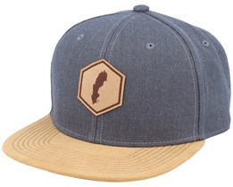 Sweden Map Patch Dark Heather Grey/Suede Snapback - Iconic