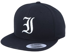 I Letter 3D Black Snapback - Iconic
