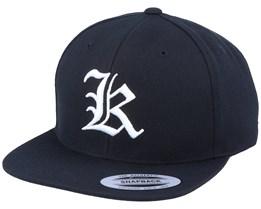 K Letter 3D Black Snapback - Iconic