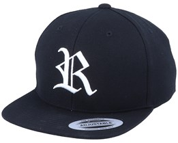 Kids R Letter 3D Black Snapback - Kiddo Cap