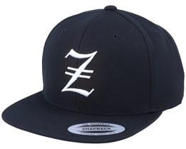 Z Letter 3D Black Snapback - Iconic