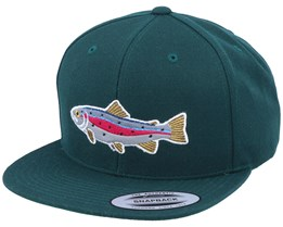 Rainbow Trout Applique Spruce Snapback - Hunter