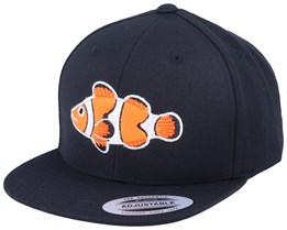 Kids Clown Fish Black Snapback - Kiddo Cap