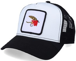 Quebec Fishing Fly Patch White/Black Trucker - Iconic