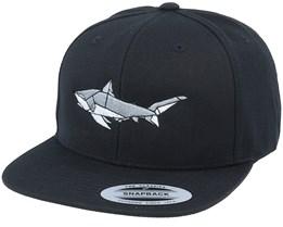 Paper Shark Black Snapback - Origami