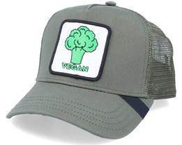 Vegan Patch Olive Trucker - Iconic