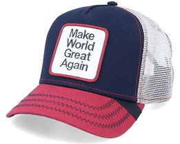 Make World Great Again Patch Navy/Red/Beige Trucker - Iconic