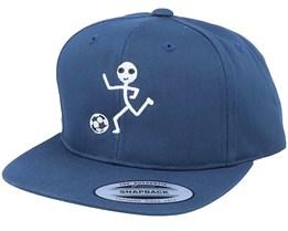 Kids Sticky Football Mini Navy Snapback - Kiddo Cap